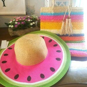 Womens Watermelon Sun Hat / Purse  Bundle